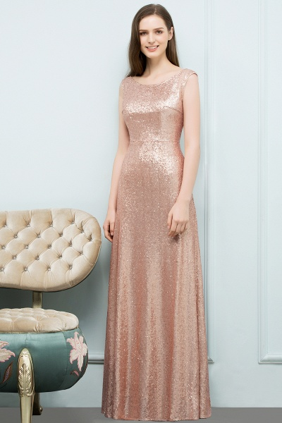 A-line Sequined Scoop Sleeveless Floor-Length Bridesmaid Dress_1