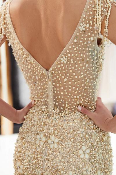 Fascinating Jewel Tulle Mermaid Prom Dress_17