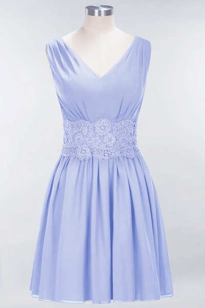 A-line Chiffon Lace V-Neck Sleeveless Mini Bridesmaid Dresses_21