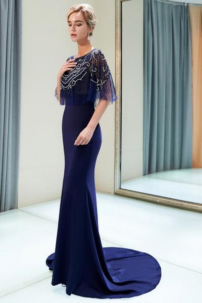 Attractive Jewel Stretch Satin Mermaid Prom Dress_4