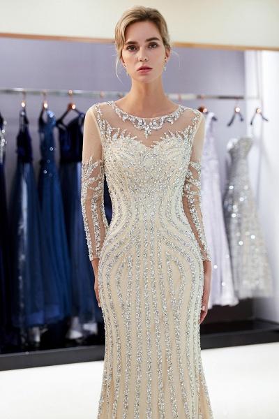 Fabulous Jewel Stretch Satin Mermaid Prom Dress_13