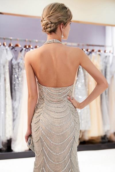 Marvelous Halter Tulle Mermaid Prom Dress_8