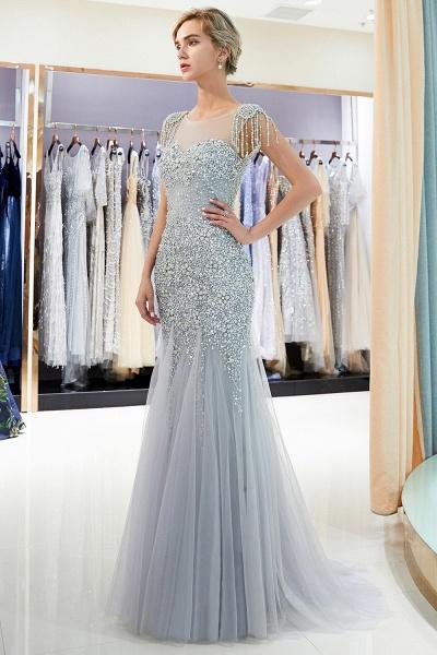 Fascinating Jewel Tulle Mermaid Prom Dress_6