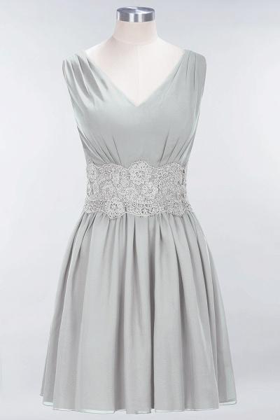 A-line Chiffon Lace V-Neck Sleeveless Mini Bridesmaid Dresses_29