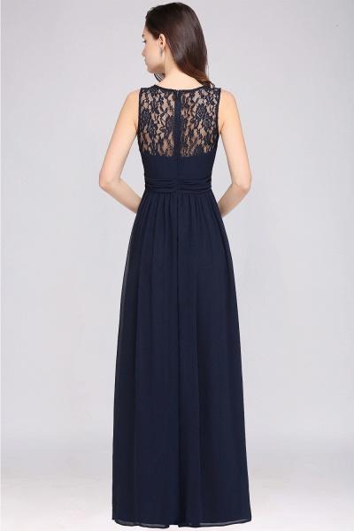A-line Chiffon Lace Jewel Sleeveless Floor-length Bridesmaid Dress_2