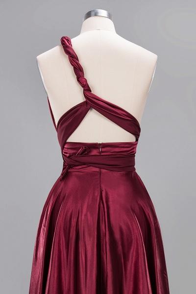 BM0143 Simple A-Line V-Neck Sleeveless Ruffles Floor Length Bridesmaid Dress_39