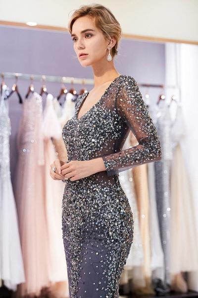 Excellent V-neck Tulle Mermaid Prom Dress_7