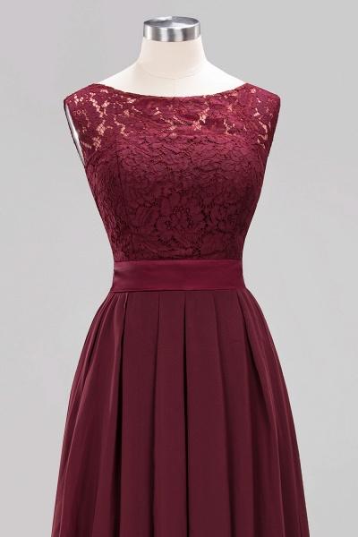 A-line Chiffon Lace Jewel Sleeveless Ruffles Floor-length Bridesmaid Dress_12