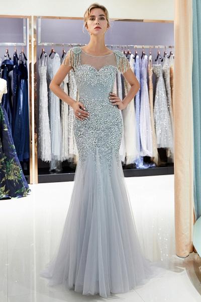 Fascinating Jewel Tulle Mermaid Prom Dress_5