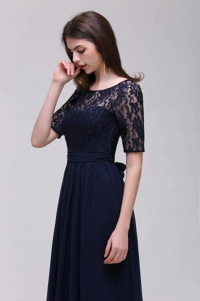 Elegant A-line Chiffon Lace Scoop Half-Sleeve Floor-Length Bridesmaid Dress_4