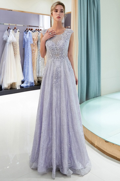 Excellent Jewel Tulle A-line Prom Dress_1