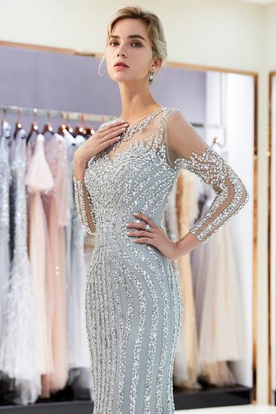 Fabulous Jewel Stretch Satin Mermaid Prom Dress_9