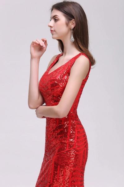 Elegant Mermaid Sequined Jewel Sleeveless Floor-Length Bridesmaid Dress_4