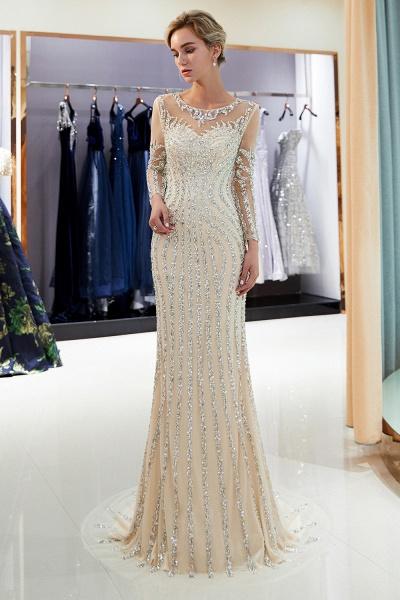 Fabulous Jewel Stretch Satin Mermaid Prom Dress_14