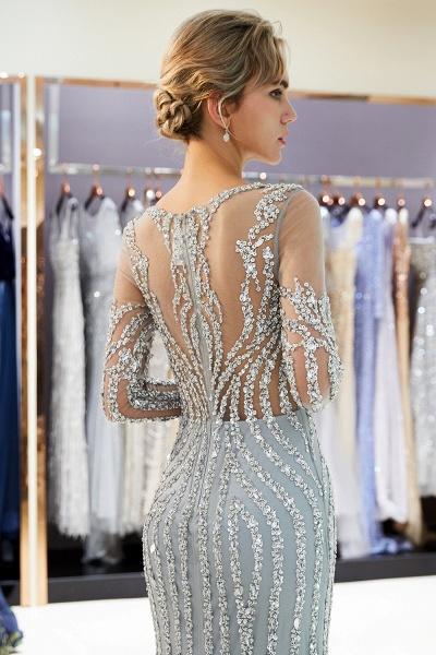 Fabulous Jewel Stretch Satin Mermaid Prom Dress_8