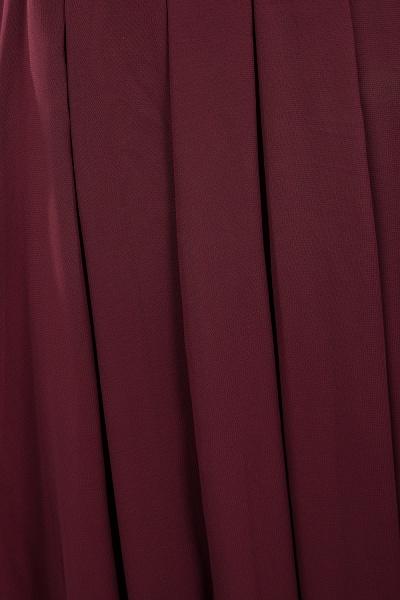 A-line Chiffon Lace Jewel Sleeveless Ruffles Floor-length Bridesmaid Dress_16