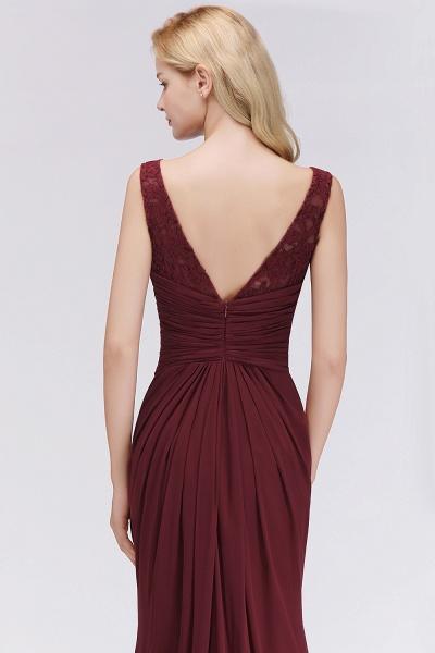 BM0058 Burgundy Chiffon Lace Scoop A-Line Ruffles Long Bridesmaid Dresses_6