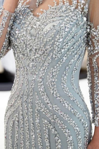 Fabulous Jewel Stretch Satin Mermaid Prom Dress_10