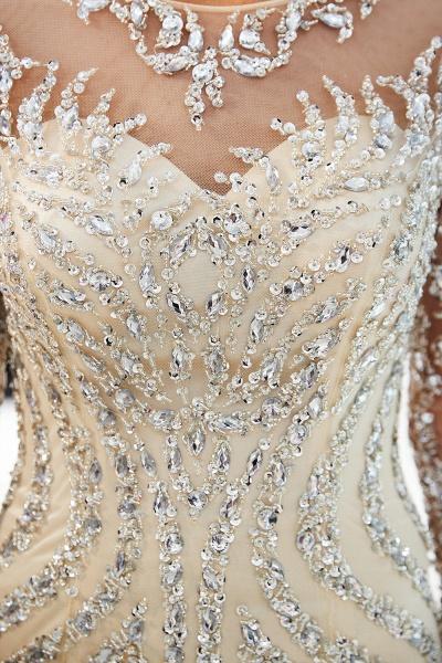 Fabulous Jewel Stretch Satin Mermaid Prom Dress_18