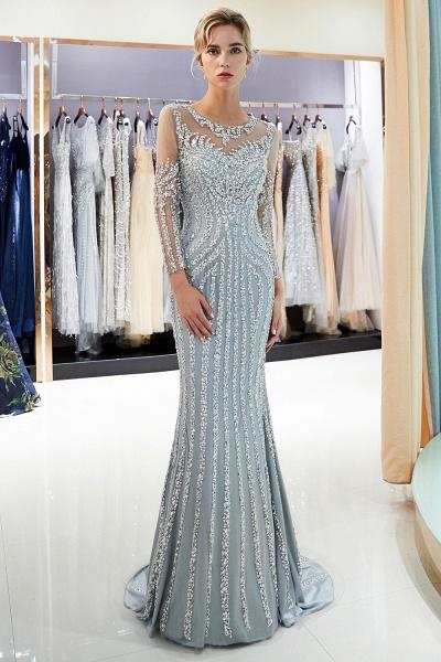 Fabulous Jewel Stretch Satin Mermaid Prom Dress_7