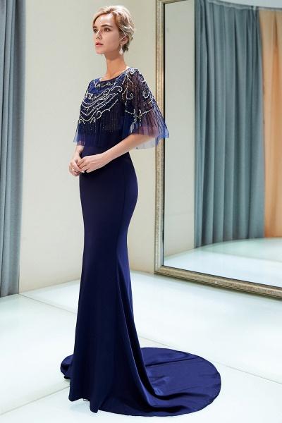 Attractive Jewel Stretch Satin Mermaid Prom Dress_5