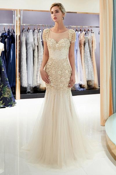 Fascinating Jewel Tulle Mermaid Prom Dress_11