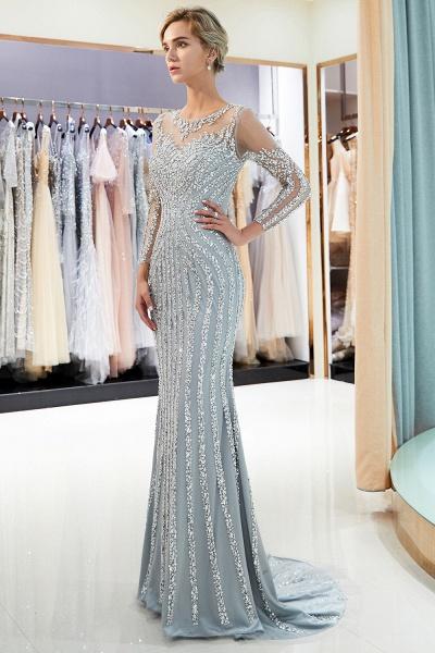 Fabulous Jewel Stretch Satin Mermaid Prom Dress_5