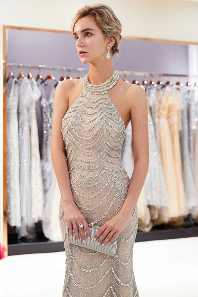 Marvelous Halter Tulle Mermaid Prom Dress_7