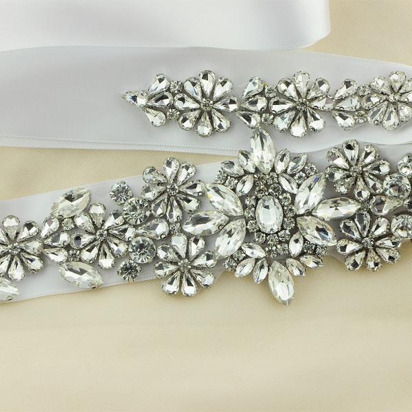 Gorgeous Satin Beadings Wedding Sash_10