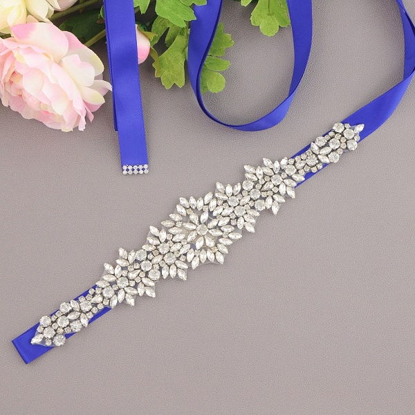 Satin Crystal Wedding Sash with Rhinestone_3