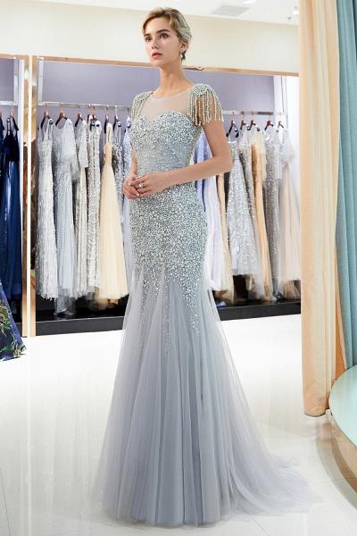 Fascinating Jewel Tulle Mermaid Prom Dress_2