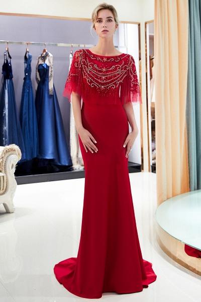 Attractive Jewel Stretch Satin Mermaid Prom Dress_14
