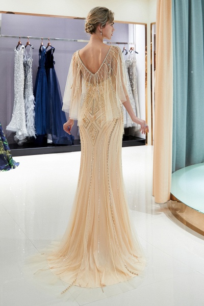 Chic Jewel Tulle Mermaid Prom Dress_13
