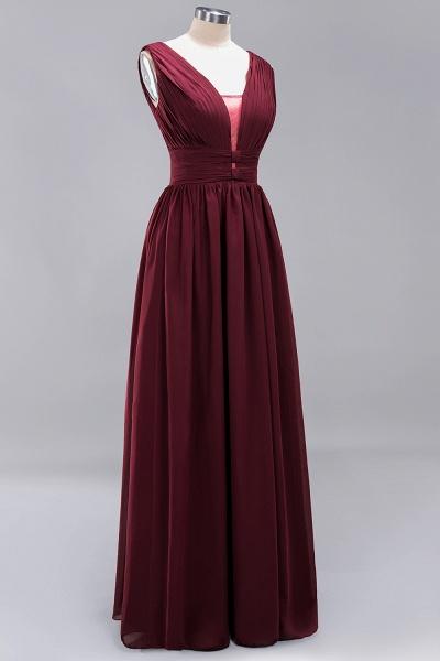 BM0214 A-Line Chiffon V-Neck Sleeveless Long Bridesmaid Dress_11