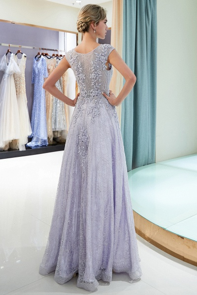 Excellent Jewel Tulle A-line Prom Dress_3