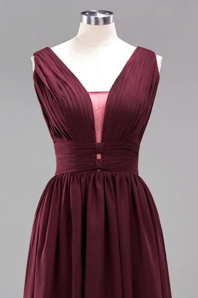 BM0214 A-Line Chiffon V-Neck Sleeveless Long Bridesmaid Dress_12