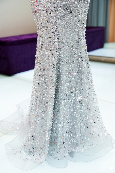 Beautiful Off-the-shoulder Tulle Mermaid Prom Dress_15