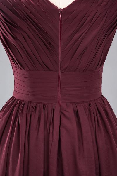 BM0214 A-Line Chiffon V-Neck Sleeveless Long Bridesmaid Dress_16