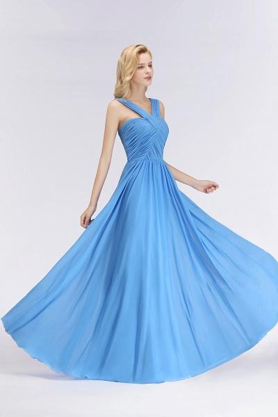 BM0048 A-Line Chiffon Straps Sleeveless Ruffles Floor Length Bridesmaid Dresses_5
