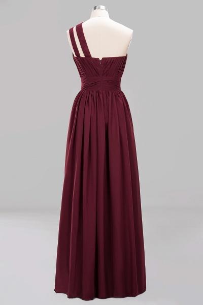 Elegant A-Line Burgundy Chiffon One-Shoulder Sleeveless Ruffles Floor-Length Bridesmaid Dresses_8
