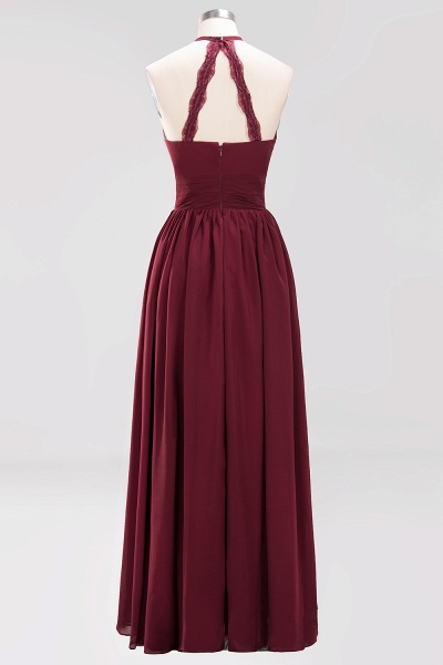 A-line Chiffon Appliques Halter Sleeveless Floor-Length Bridesmaid Dresses with Ruffles_42