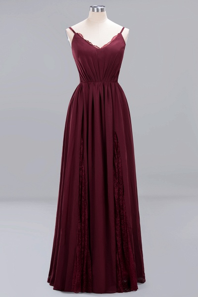 BM0213 A-Line Chiffon V-Neck Spaghetti Straps Long Bridesmaid Dress_2
