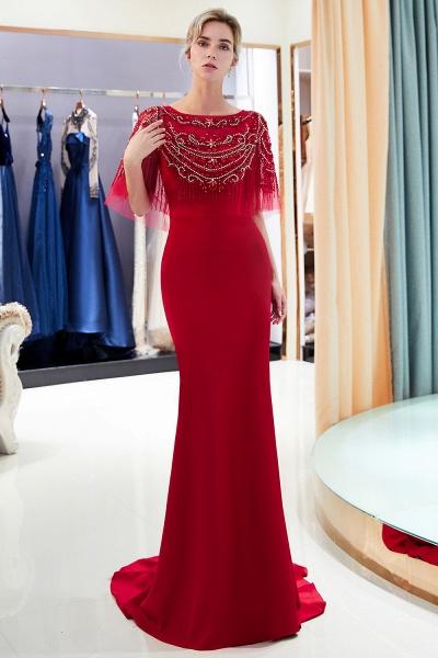 Attractive Jewel Stretch Satin Mermaid Prom Dress_13