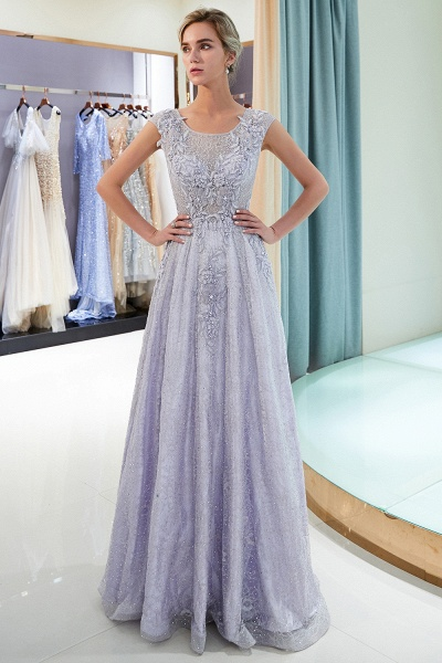 Excellent Jewel Tulle A-line Prom Dress_4