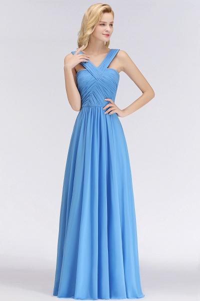 BM0048 A-Line Chiffon Straps Sleeveless Ruffles Floor Length Bridesmaid Dresses_3