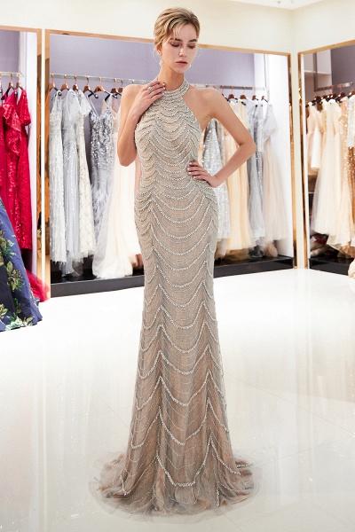 Marvelous Halter Tulle Mermaid Prom Dress_6