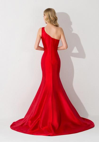 Mermaid Satin One-Shoulder Sleeveless Floor-Length Bridesmaid Dress_2