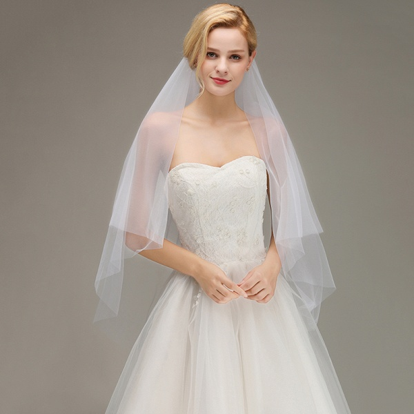 Tulle Bridal Veil Wedding Veil with Comb_2
