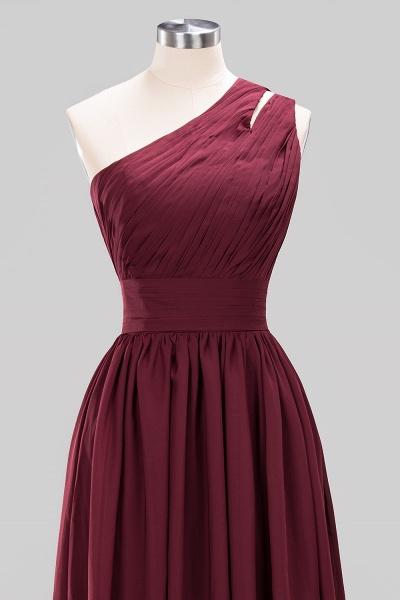 Elegant A-Line Burgundy Chiffon One-Shoulder Sleeveless Ruffles Floor-Length Bridesmaid Dresses_10