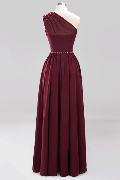 Elegant A-Line Burgundy Chiffon One-Shoulder Sleeveless Ruffles Floor-Length Bridesmaid Dresses with Beadings_41